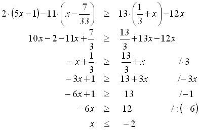 Lineárna nerovnica
