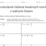 Jednokrokové riešenie lineárnych rovníc - pracovné listy